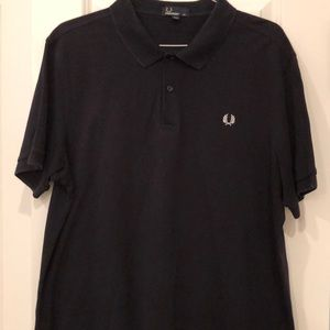 FRED PERRY logo men's black polo shirt